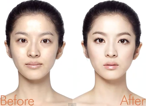 how to look like a korean without makeup